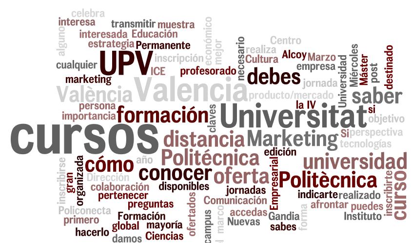 Oferta de cursos UPV Valencia