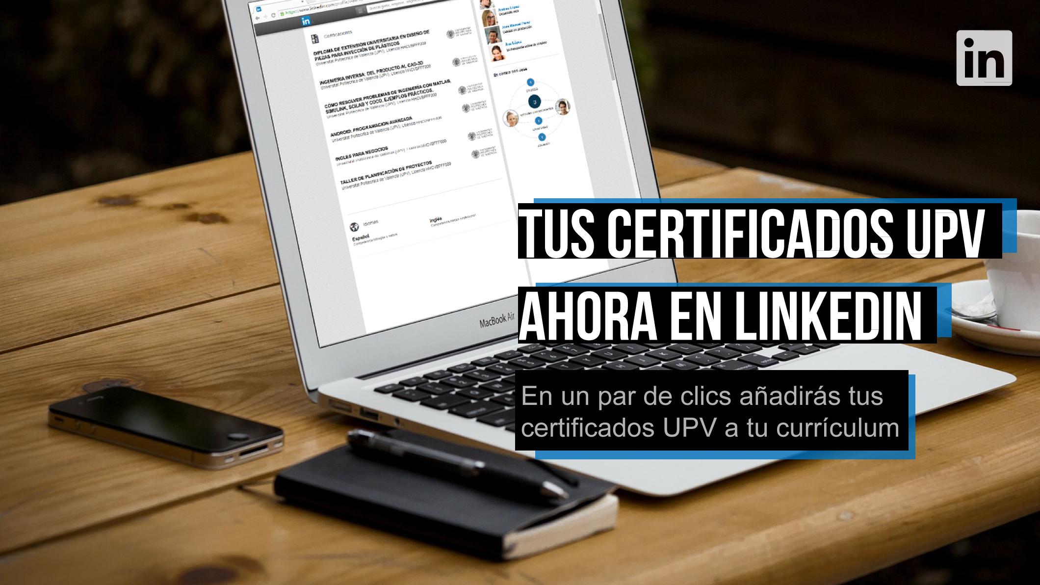 Añadir certificados a linkedin